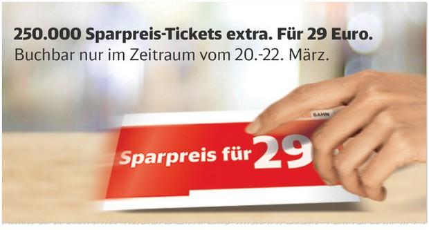 250000 Bahn-Sparpreis-Tickets extra zu Ostern