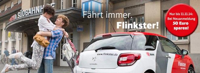 Flinkster-Anmeldung gratis