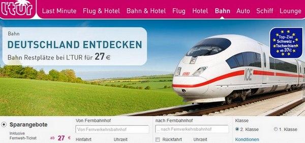 LTUR Bahn-Tickets