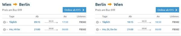 Flixbus Berlin Wien Fahrplan