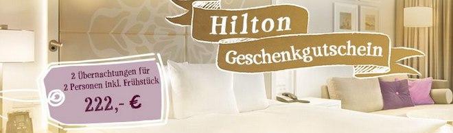 Hilton Geschenkgutschein bei Tchibo 222