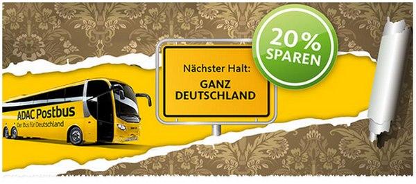 ADAC Postbus Gutschein mit 20% Rabatt bei o2 More