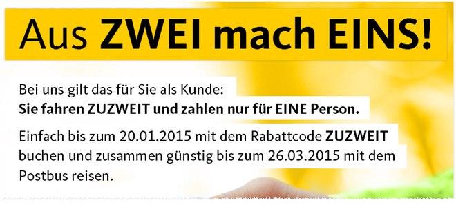 ADAC Postbus-Gutschein bis 20. Januar 2015