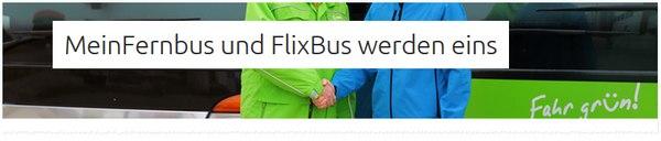 FlixBus + MeinFernbus Angebot