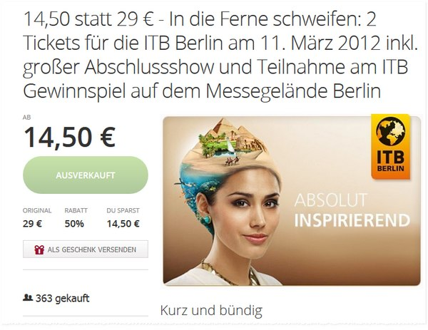 ITB Tickets bei Groupon