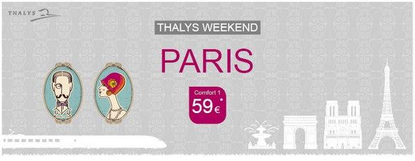 Thalys 1. Klasse Ticket von Köln nach Prais (Weekend Comfort 1)