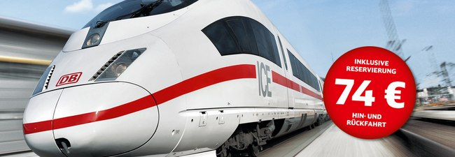 DB Einsteiger-Ticket 2015 der Deutschen Bahn vom 26.2.2015 bis 7.3.2015 ab 37 €