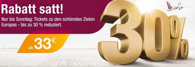 Germanwings Tickets ab 33 Euro