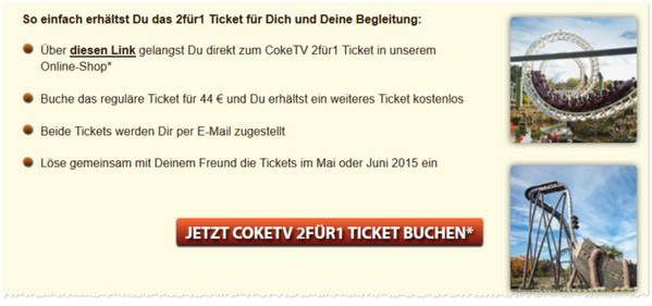 heidepark gutschein 2 f r 1 tickets f r 2016. Black Bedroom Furniture Sets. Home Design Ideas