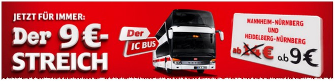 ic bus mit 9 euro streich billigere strecken. Black Bedroom Furniture Sets. Home Design Ideas