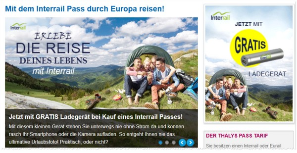 Interrail Pass via B-Europe