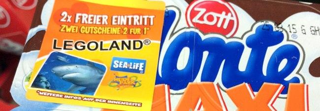 Monte Freizeitpark-Gutscheine: 2für1-Tickets für Heide Park, Legoland, Little Big City & Sea Life auf Aktionspackungen