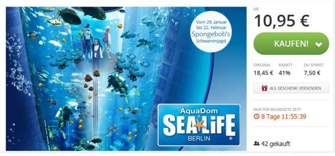 Sea Life Aqua Dom Gutscheine Eintritt Günstiger