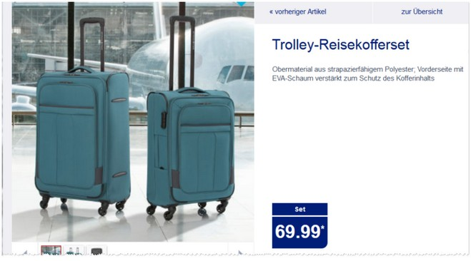 ALDI Trolley-Koffer-Set