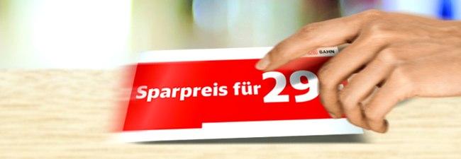 Bahn Sparpreis: Tickets aus der Radio-Werbung für ICE & IC/EC ab 19,90 €, auch mit BC 25 + 50 – online, Sonderaktion mit 1 Million Extra-Tickets bis 19.11.2017 für Fahrten bis 17.5.2018