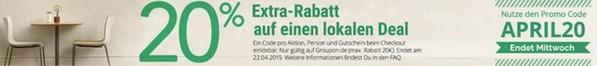 Groupon 20% Rabatt-Gutschein
