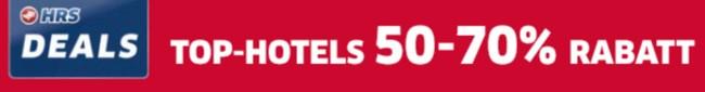HRS Deals: Täglich neue Hotel-Angebote – bis zu 70% günstiger