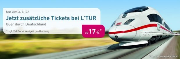 LTUR-Restplatz-Tickets der Deutschen Bahn