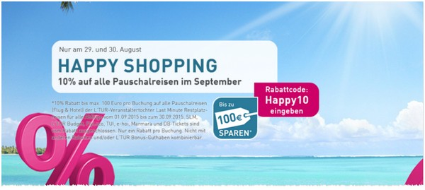 LTUR Happy Shopping Gutschein