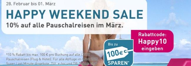 L'TUR Happy Weekend Sale am 28.2. + 1.3.2015