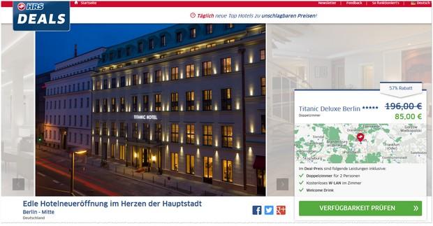 Titanic Hotel Deluxe Berlin bei den HRS-Deals