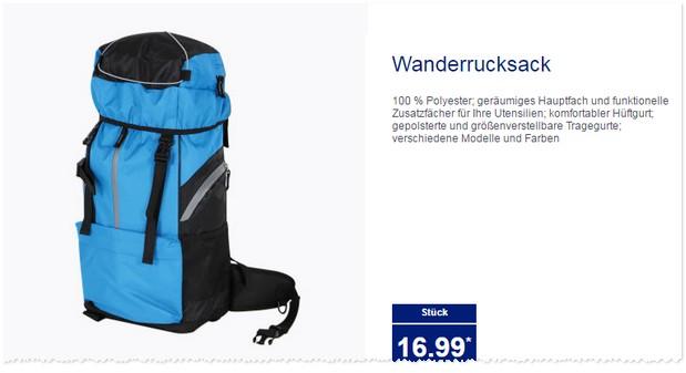 ALDI Wanderrucksack