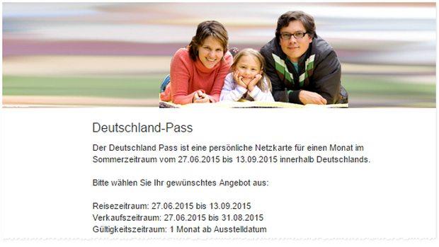 Deutsche Bahn Deutschland-Pass 2015