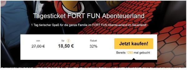 Fort Fun Ticket-Gutschein
