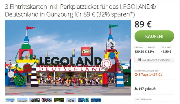 legoland gutschein f r familien tickets billund d nemark. Black Bedroom Furniture Sets. Home Design Ideas