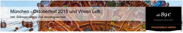 Oktoberfest-Rabatt + Zeltreservierung.