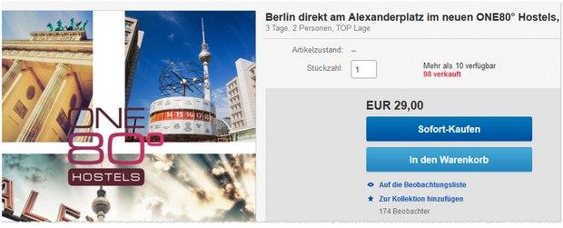 One 80° Berlin Hotel-Gutschein Berlin-Alexanderplatz