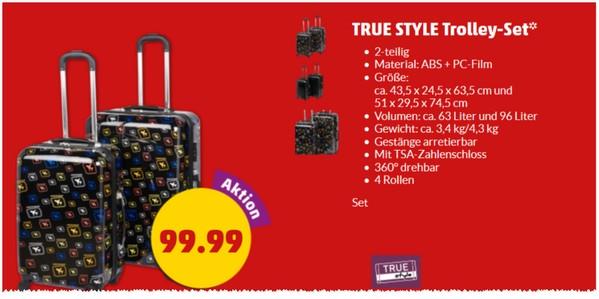 True Style Trolley-Koffer-Set