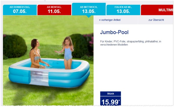 Intex pool als aldi nord angebot ab 6 dienstag for Swimmingpool angebote