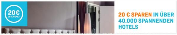 Hotel.de-Gutschein 20 Euro