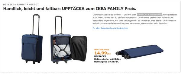 ikea koffer trolleys uppt cka angebote g nstiger. Black Bedroom Furniture Sets. Home Design Ideas
