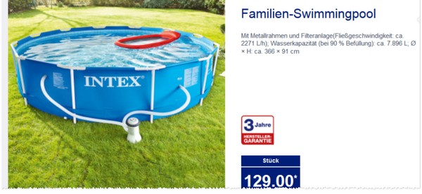 Aldi nord pool set schwimmbad und saunen for Swimming pool set angebot