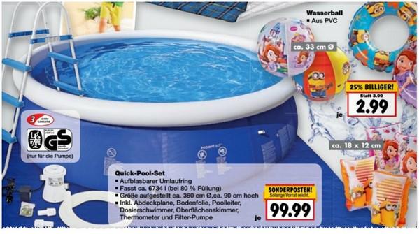 Kaufland pool im angebot ab 4 quick up pool for Pool im angebot
