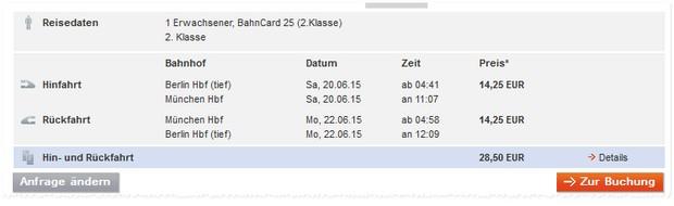 Bahn Sommer-Sparpreis-Tickets ab 19 €