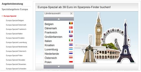 Europa Spezial Ticket