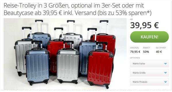 groupon koffer und trolley sets im angebot ab 39 95. Black Bedroom Furniture Sets. Home Design Ideas