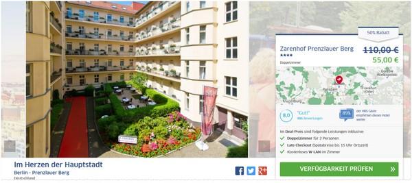 Angebot für das Hotel Zarenhof Berlin