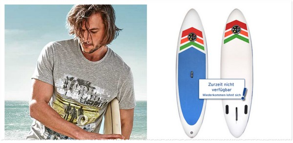 Maui and Sons Stand-up-Paddling-Board bei Tchibo