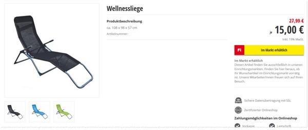 Poco Wellnessliege Gartenliege Im Angebot Ab 862015