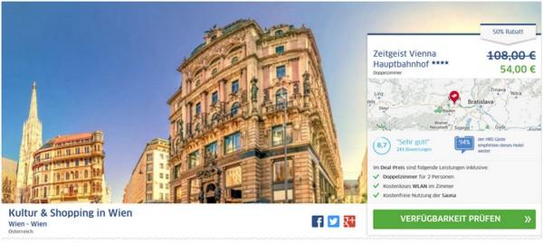 Zeitgeist Vienna Hotel beim Wiener Hauptbahnhof