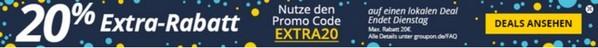 Groupon Rabatt Gutschein: 20% Extra im August 2015
