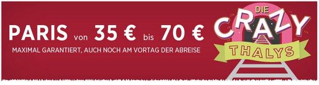 Thalys Tickets ab 35 €