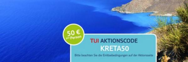 TUI Aktionscode für Kretareisen