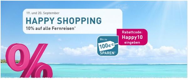 LTUR Happy Shopping Gutschein: 10 Prozent auf Fernreisen