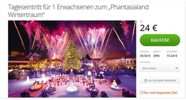 Phantasialand Wintertraum Gutschein