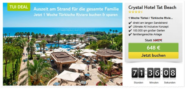 TUI-Deals vom 14.8.2015